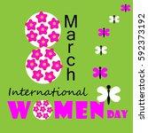 international women day card... | Shutterstock .eps vector #592373192