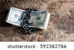 us dollars bills and money...   Shutterstock . vector #592382786