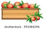 wooden sign template with...   Shutterstock .eps vector #592383296