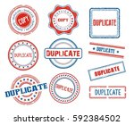 set of various duplicate stamps | Shutterstock .eps vector #592384502