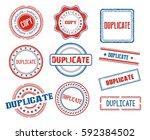 set of various duplicate stamps | Shutterstock .eps vector #592384502