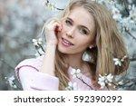 Young Beautiful Blonde Woman I...