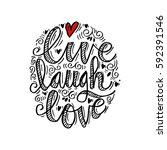 hand drawn typography poster ... | Shutterstock .eps vector #592391546