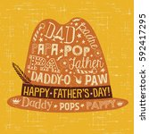 father's day greeting card.... | Shutterstock .eps vector #592417295