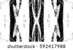 grunge black and white urban... | Shutterstock .eps vector #592417988
