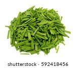 Small photo of Allium tuberosum Vegetables isolated on white background