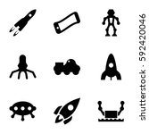 future icons set. set of 9... | Shutterstock .eps vector #592420046
