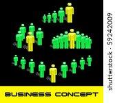 team business concept. vector... | Shutterstock .eps vector #59242009