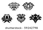 flower patterns isolated on... | Shutterstock .eps vector #59242798