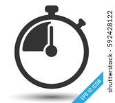 stopwatch icon. simple flat... | Shutterstock .eps vector #592428122