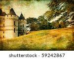 autumn castles - artistik picture - stock photo