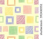 seamless raster geometrical... | Shutterstock . vector #592430552