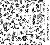 seamless raster pattern ... | Shutterstock . vector #592431212