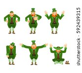 Leprechaun Set Motion. Happy...