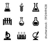 lab icons set. set of 9 lab... | Shutterstock .eps vector #592449428