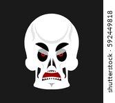 skull angry emoji. skeleton...   Shutterstock .eps vector #592449818