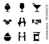 shake icons set. set of 9 shake ... | Shutterstock .eps vector #592450172
