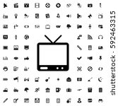 tv icon illustration isolated... | Shutterstock .eps vector #592463315
