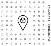 location icon illustration... | Shutterstock .eps vector #592464476