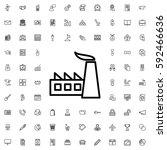 factory icon illustration... | Shutterstock .eps vector #592466636