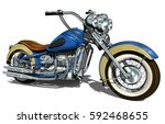 classic vintage motorcycle. | Shutterstock .eps vector #592468655