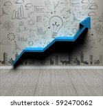 business wall background... | Shutterstock . vector #592470062