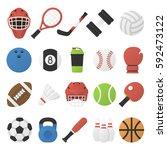 vector illustration. set of... | Shutterstock .eps vector #592473122