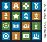 first icons set. set of 16... | Shutterstock .eps vector #592475372
