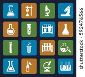 lab icons set. set of 16 lab... | Shutterstock .eps vector #592476566