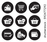 payment icons set | Shutterstock .eps vector #592477292