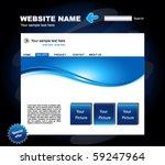 web site vector design template | Shutterstock .eps vector #59247964
