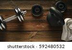 top view of black iron... | Shutterstock . vector #592480532
