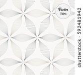 abstract linear petal flower.... | Shutterstock .eps vector #592481942
