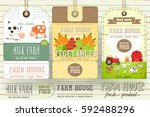 set of price tag label for farm ... | Shutterstock .eps vector #592488296