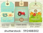set of price tag label for farm ... | Shutterstock .eps vector #592488302
