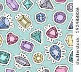 cute fashion seamless pattern... | Shutterstock .eps vector #592488836