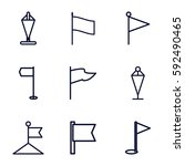 pennant icons set. set of 9...