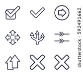 right icons set. set of 9 right ... | Shutterstock .eps vector #592491662