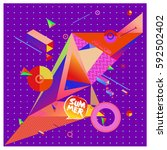 vector of triangle geometric 3d ... | Shutterstock .eps vector #592502402
