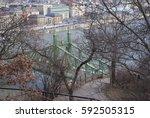 budapest skyline | Shutterstock . vector #592505315