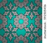 seamless pattern on blue...   Shutterstock . vector #592505456