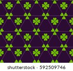 seamless colored pattern. print ... | Shutterstock .eps vector #592509746