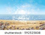 Vector  Ocean With Blue  Sky...
