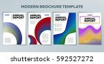 covers with gradient shapes.... | Shutterstock .eps vector #592527272
