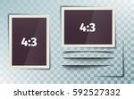 photo frame 4 3. photorealistic.... | Shutterstock .eps vector #592527332