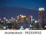 twilight defocused city... | Shutterstock . vector #592533932
