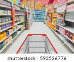 abstract blurred photo of store ... | Shutterstock . vector #592536776