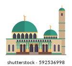 modern flat elegant islamic... | Shutterstock .eps vector #592536998