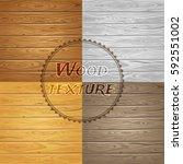 vector wood texture. grunge... | Shutterstock .eps vector #592551002