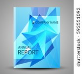 annual report cover in abstract ... | Shutterstock .eps vector #592551092